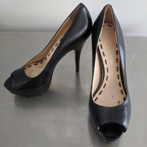 Enzo Angiolini - Black Peep Toe Pumps - Size 4.5